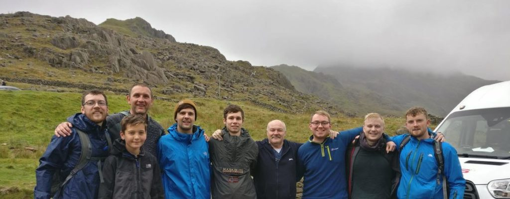 AES Solar team who completed the three peak challenge as part of the opportunities available in the solar energy sector