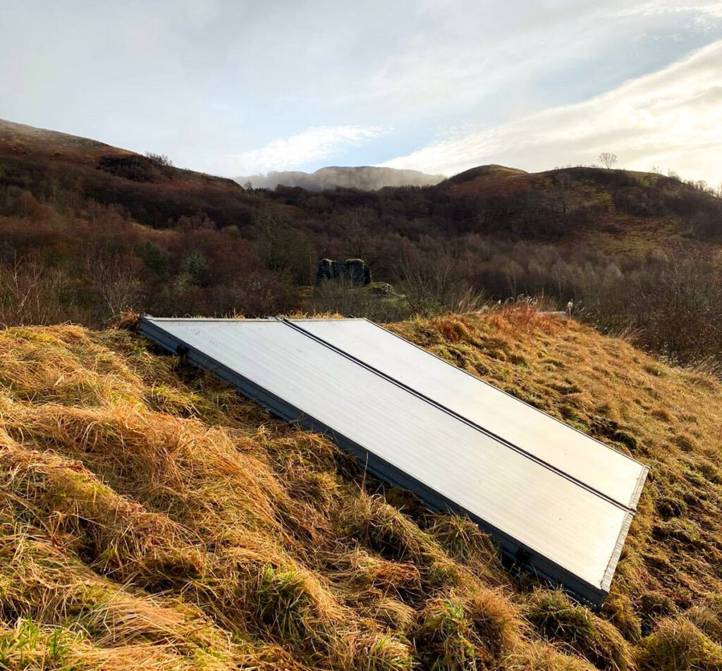 AES Luminary ethical best buy installed on a green roof